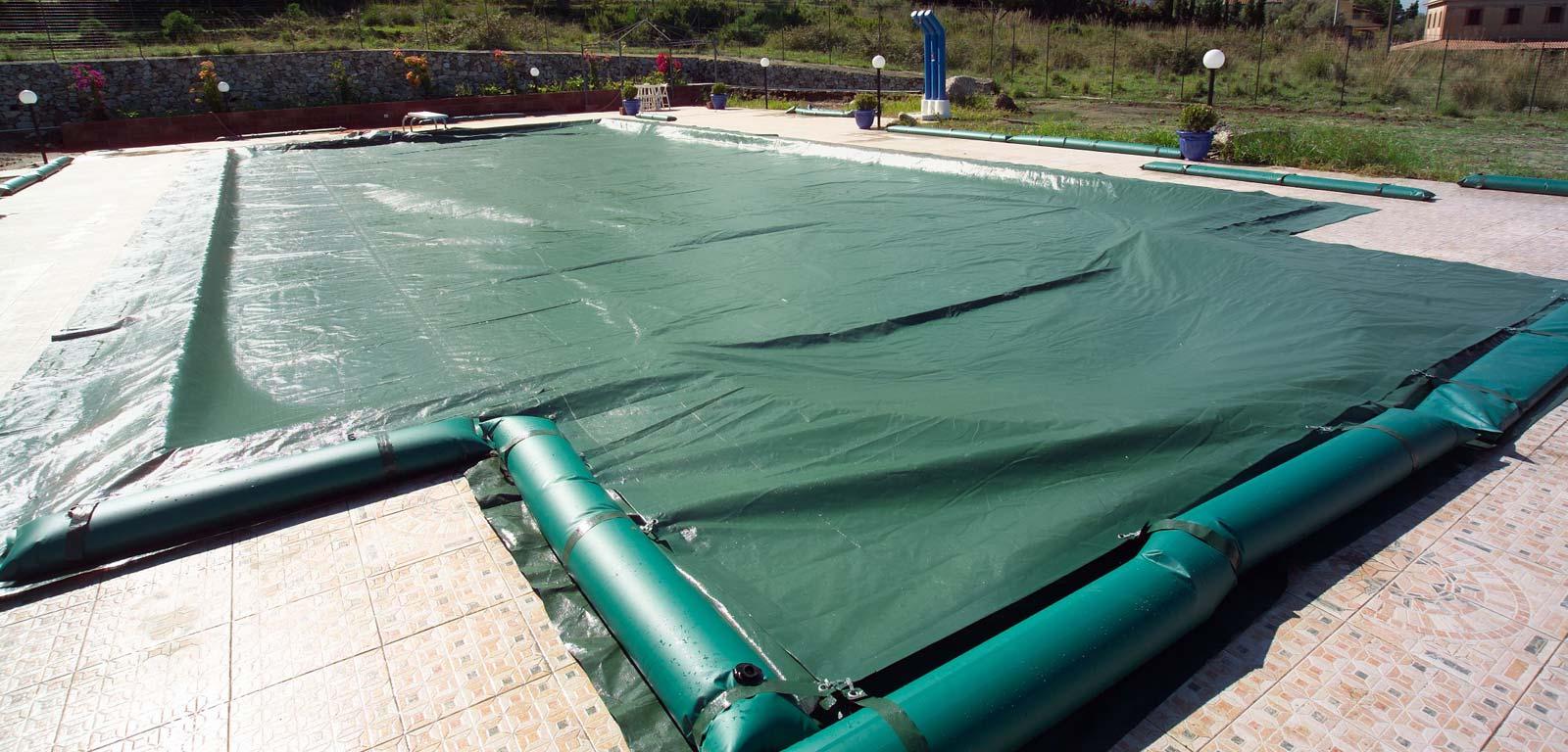 Coperture per piscine accessori piscine castiglione - Teli per copertura piscine fuori terra ...