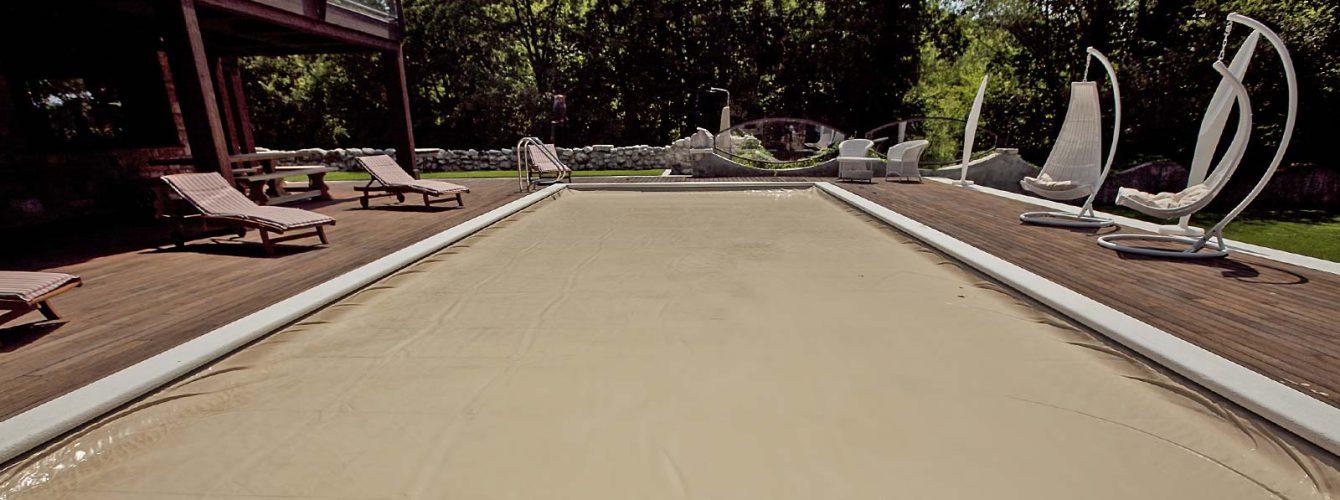 copertura automatica di sicurezza per piscina