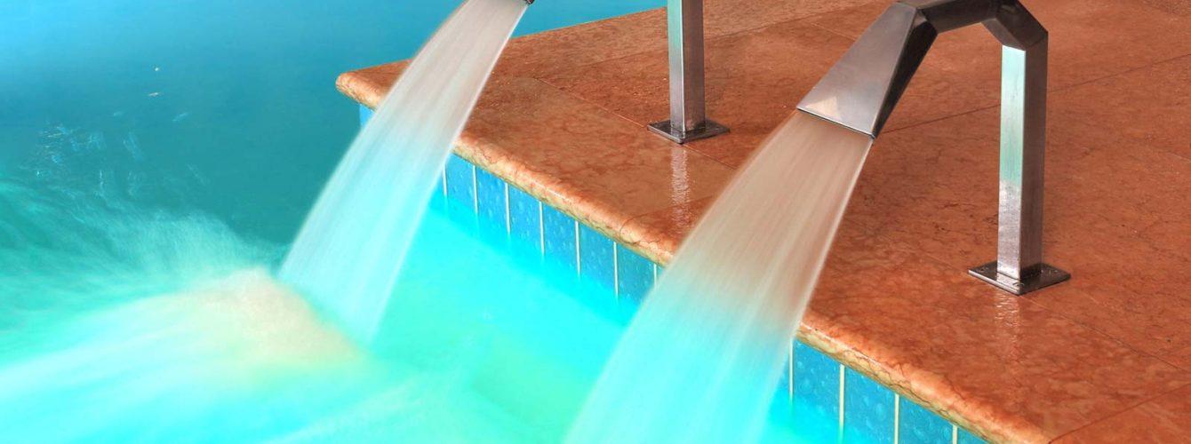 fontana in piscina interna