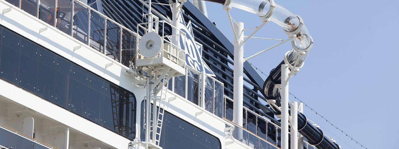 scivolo su nave da crociera