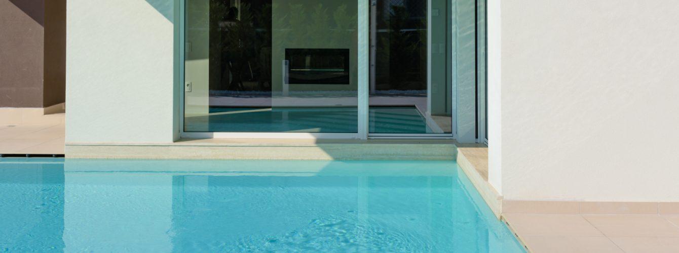 Accesso alla piscina direttamente dall'abitazione