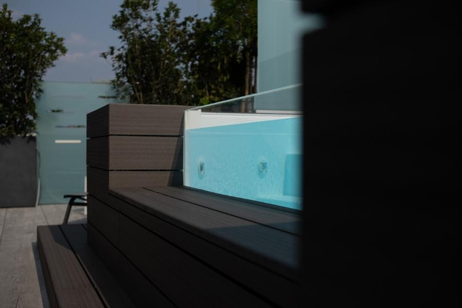 piscina fuori terra terrazzo