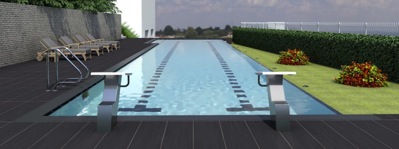 piscina sportiva per il giardino