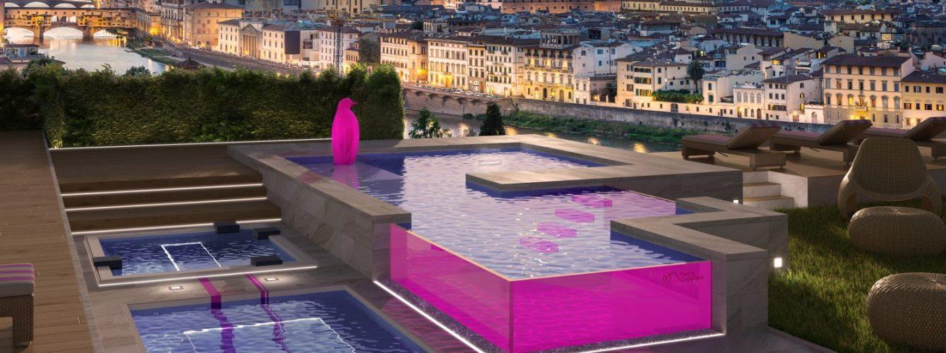 piscina adv Firenze in vetro metacrilato