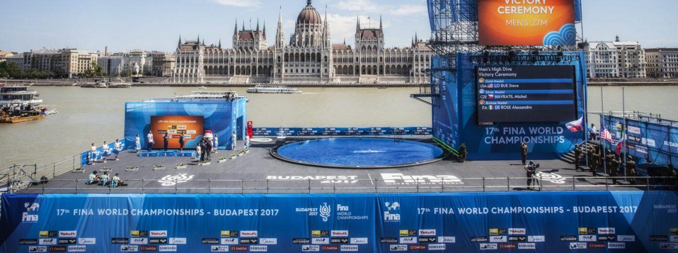 piscina high diving per i mondiali di nuoto a budapest 2017